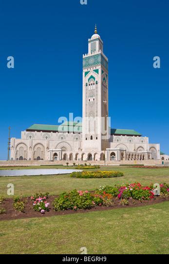 Hassan II mosque Casablanca Morocco - Stock Image