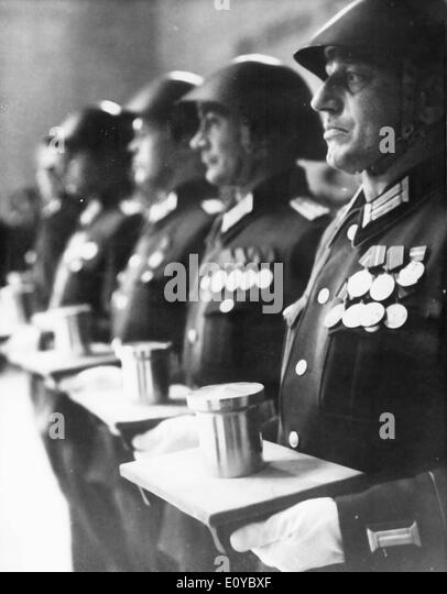 Ceremony for unknown soldiers - Stock Image