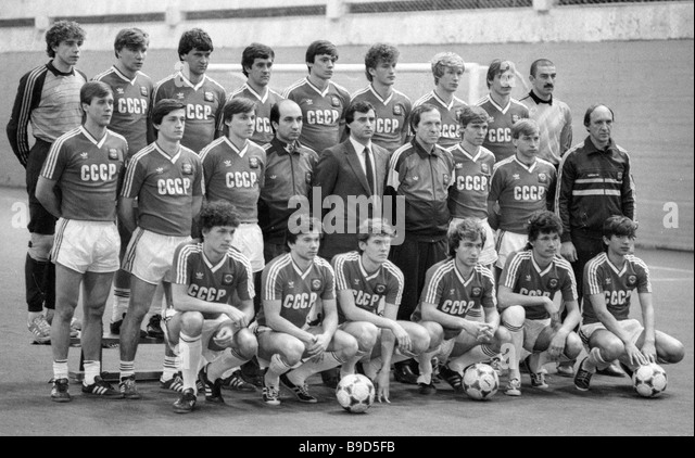USSR Olympic soccer team - Stock Image