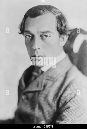 Vintage portrait photo circa 1926 of American comic actor, director, producer and writer Buster Keaton (1895 - 1966). - Stock-Bilder
