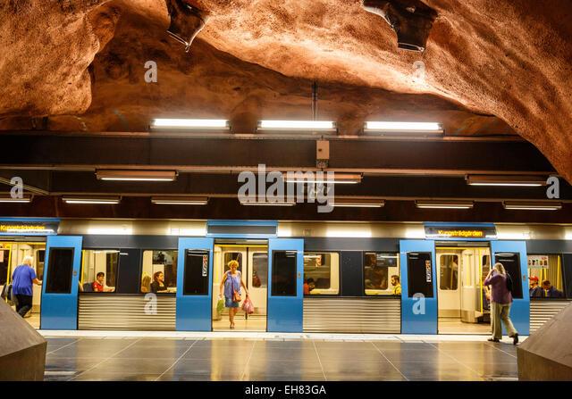 T Bana metro station, Stockholm, Sweden, Scandinavia, Europe - Stock Image