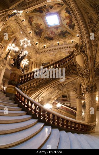 France, Paris, Garnier Opera house, the staircase - Stock Image