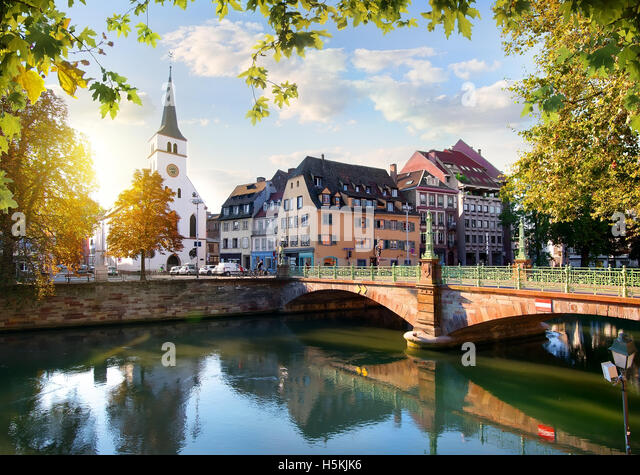 Protestant church of Saint Guillaume in Strasbourg, France - Stock Image