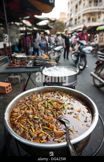 Food market, Phnom Penh, Cambodia, Indochina, Southeast Asia, Asia - Stock Image