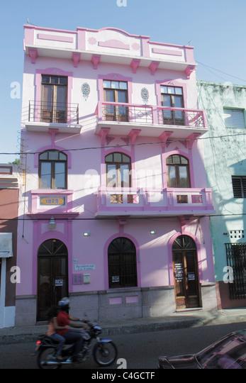 Santo Domingo Dominican Republic Ciudad Colonia Calle Las Mercedes neighborhood building flats rental apartments - Stock Image