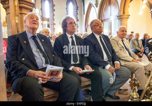 Holy Trinity Church, Chesterton, UK. 8 May 2015. Husband Colin Gregory, Stoke City, Everton and Aston Villa footballer - Stock Image