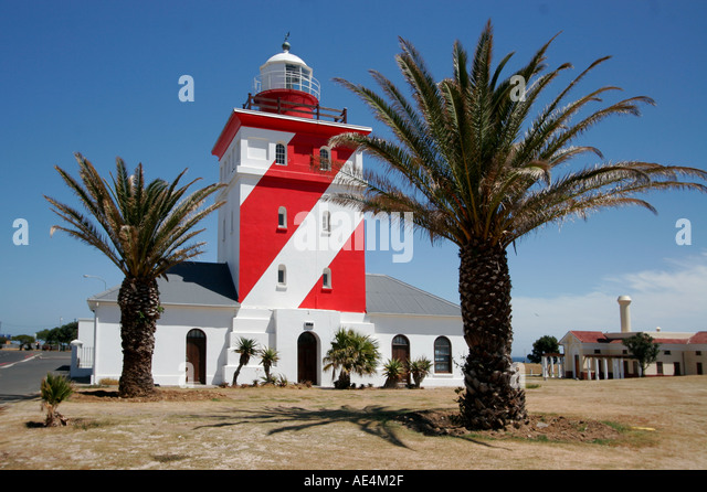 south africa cape town sea point lighthouse - Stock Image