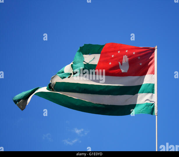 flag of Abkhazia - Stock Image