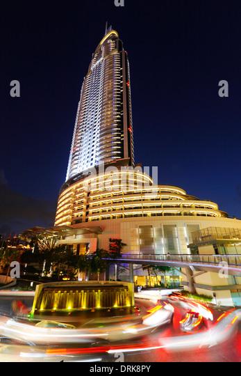 Dubai Address hotel - Stock Image