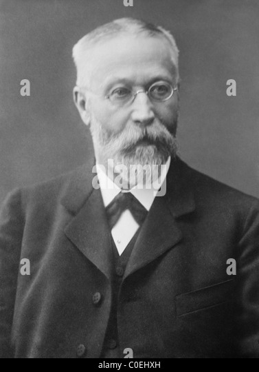 German inventor + physicist Karl Ferdinand Braun (1850 - 1918) - co-winner of 1909 Nobel Physics Prize with Guglielmo - Stock Image