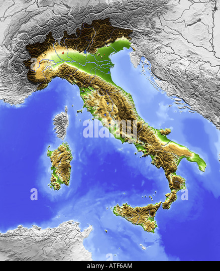 Topographic Map And Europe Stock Photos & Topographic Map