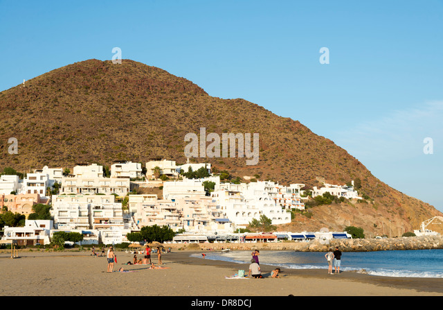 The beach at San Jose, Cabo de Gata-Nijar, Andalusia, Spain - Stock Image