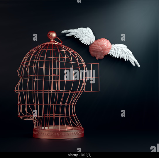 Winged brain - Stock-Bilder