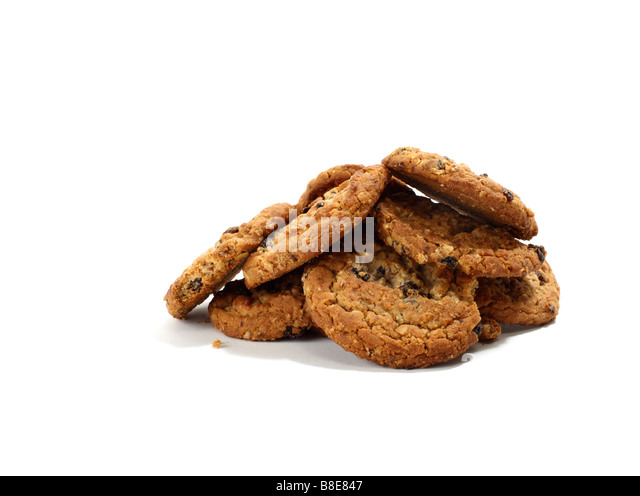 Stack of Raisin Oatmeal Cookies - Stock Image