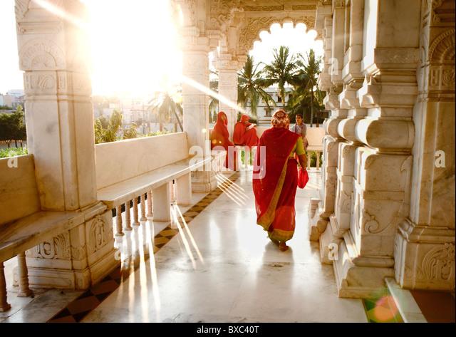 Beautiful scenery at a temple in Mandvi, Gujarat, India - Stock-Bilder