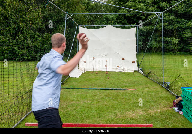 Coconut Shy, Withyham Village Fete, Sussex, England - Stock Image
