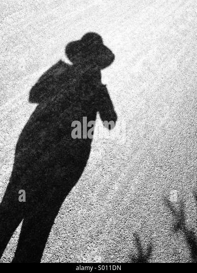 Shadow woman - Stock Image