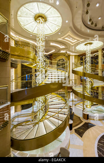 Ship interior staircase stock photos ship interior for Atrium design and decoration