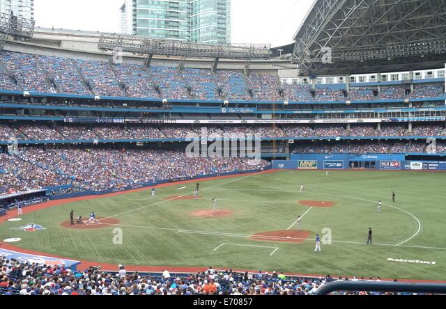 Toronto Blue Jays Major League Baseball stadium Canada Rogers Centre - Stock Image