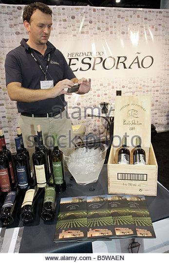 Miami Beach Miami Florida Beach Convention Center Miami International Wine Fair importers distributors retailers - Stock Image