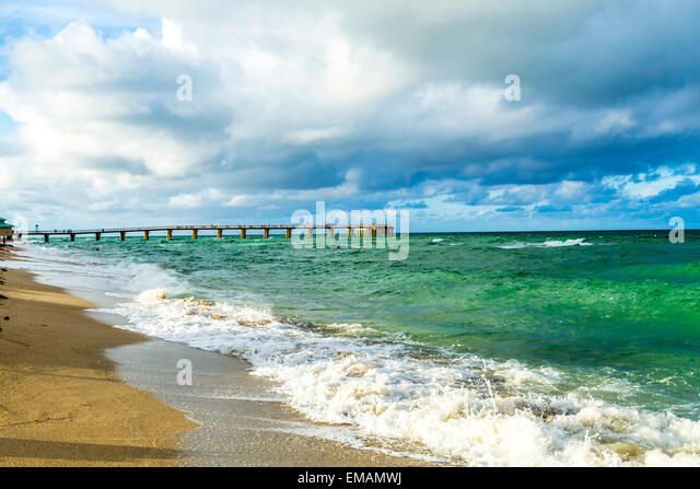 pier at Sunny Isles Beach in Miami, Florida - Stock Image