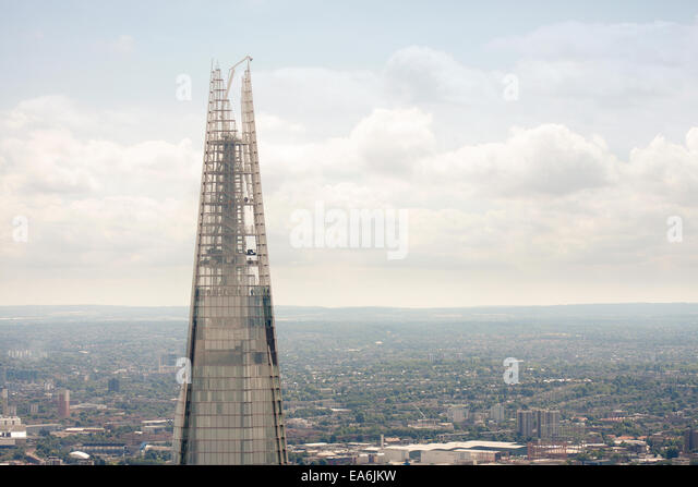 UK, London, View of top of The Shard - Stock Image