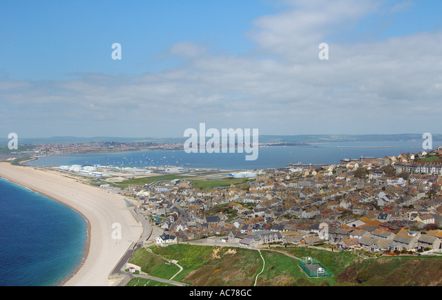 Fortuneswell and Chesil Beach - Stock Image