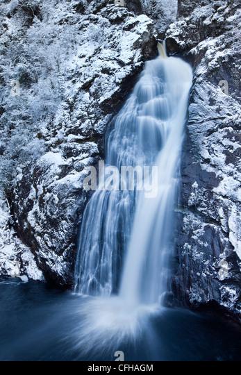 The Falls of Foyers in winter, Invernesshire, Scotland - Stock Image