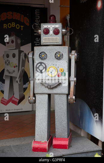 An old toy robot - Stock Image