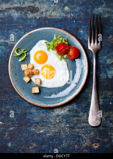 Traditional breakfast eggs - Stock Image