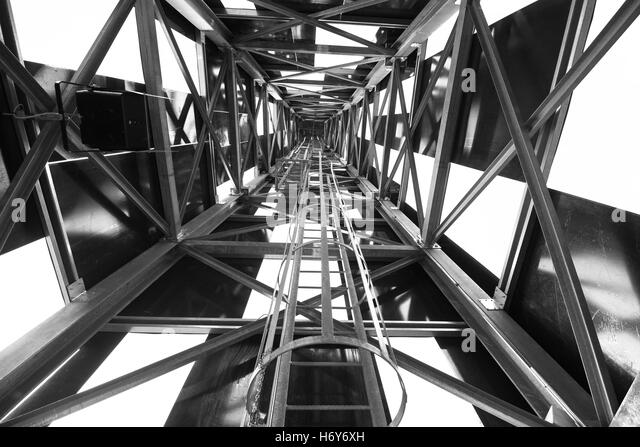 Abstract metal structure in black and white - Stock Image