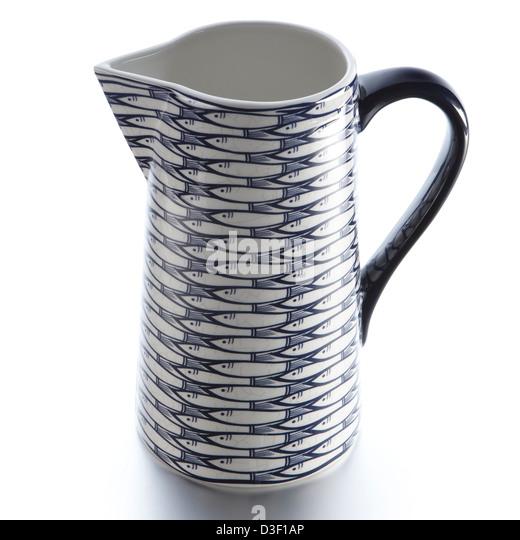 jug with fish pattern - Stock Image