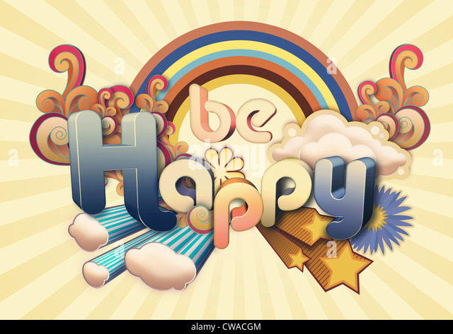 Be Happy illustration - Stock Image