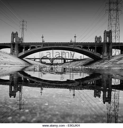Usa, California, The Los Angeles River - Stock-Bilder