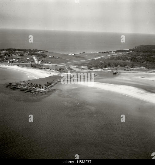 Bermagui looking east - 17 Nov 1937 - Stock Image