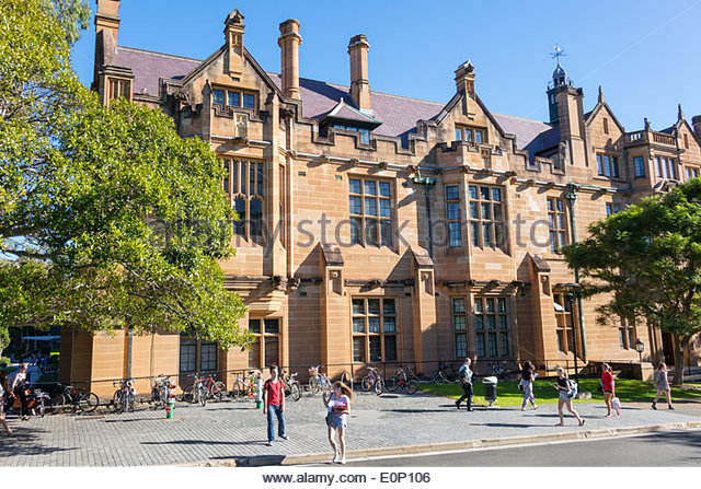 Australia NSW New South Wales Sydney University of Sydney education campus Anderson Stuart Building sandstone historic - Stock Image