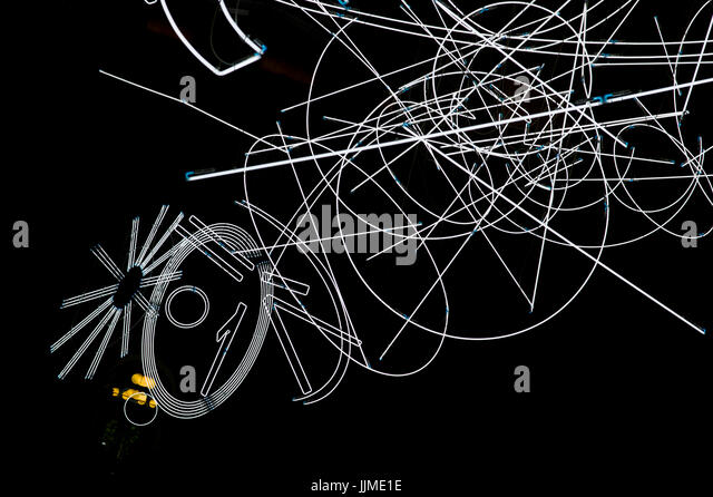 Forms in Space… by Light (in Time) by Welsh artist Cerith Wyn Evans on display in June 2017 uintil 20 August 2017 - Stock Image