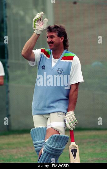 Cricket World Cup 1992 - Australia: England Cricket Team. Ian Botham. March 1992 DM-1894-388 - Stock Image
