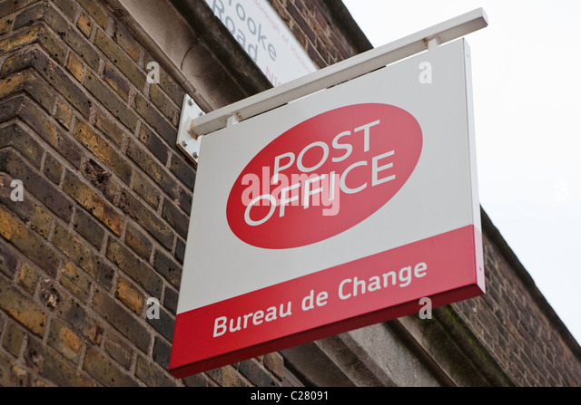 Post office stock photos post office stock images alamy - Post office bureau de change buy back ...