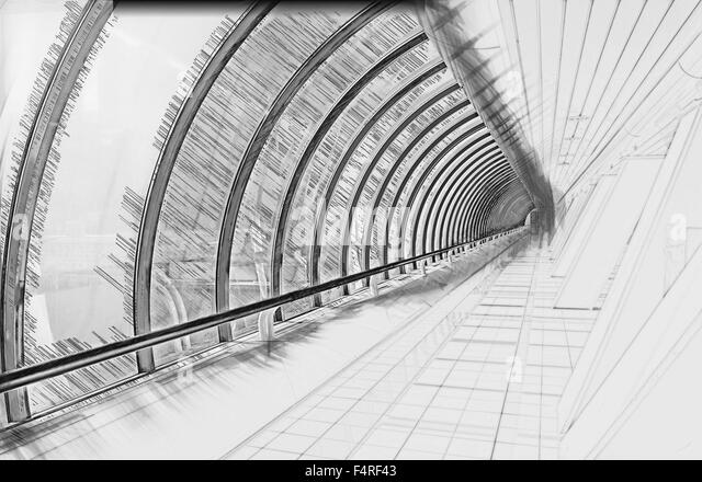 Glazed black and white stock photos images alamy - Faience corridor ...