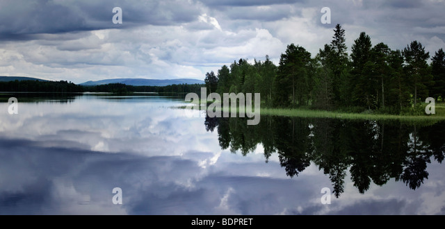 river in Sweden - Stock Image