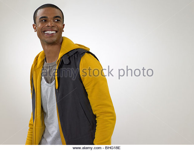 Portrait of a young african american man - Stock-Bilder