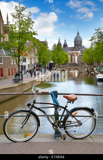 Amsterdam bike, Holland Netherlands - Stock Image