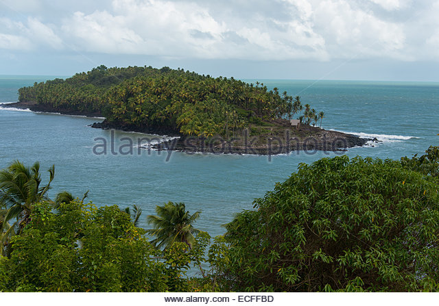 View of Devils Island,where Alfred Dreyfus was imprisoned,French Guyana. ©William Stevens - Stock Image
