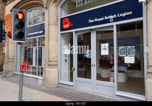 The Royal British Legion charity pop in shop Manchester England UK - Stock Image