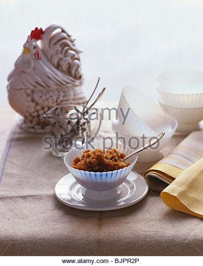Espresso granita, model rooster in background - Stock Image