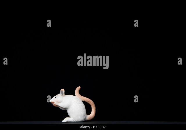 Toy mouse on black background - Stock-Bilder