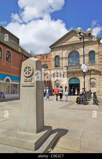 Market Hall Entrance, Derby, Derbyshire, England, United Kingdom, Europe - Stock Image
