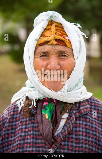 Woman in Le Kef Tunisia - Stock Image
