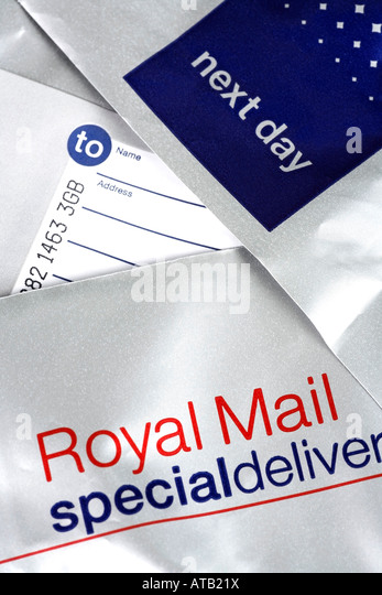 Post office label - Stock Image